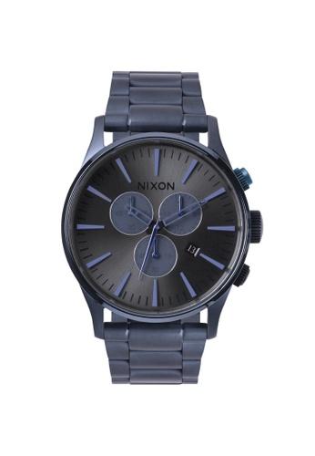 Nixon blue Nixon - Sentry Chronograph Navy Watch NI855AC64EMTSG_1