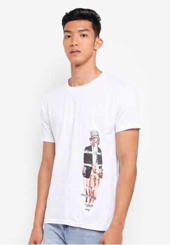OBEY 白色 素色印花T恤 F6F8FAA9C3D784GS_1
