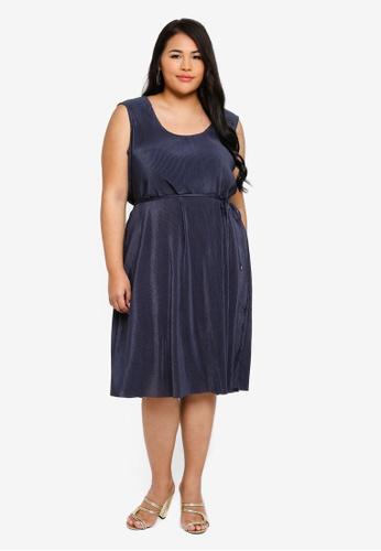 8cc3a600d4b869 Shop Junarose Plus Size Christina Sleeveless Below Knee Dress Online on  ZALORA Philippines