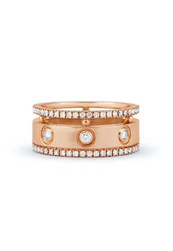 Aquae Jewels pink Ring Rich and Bold Diem, 18K Gold and Diamonds - Rose Gold 742E8AC45EC825GS_1