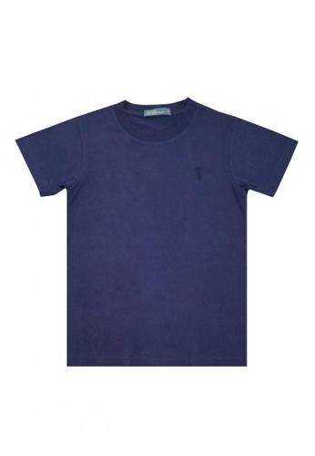 BOSSINI KIDS blue Basic T-shirt E3869KAF03B4C7GS_1