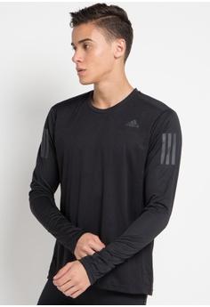 6fc19f5a70bc adidas black adidas own the run long sleeve tee 91ECBAAA9E0505GS 1