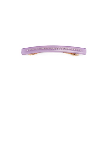 Glamorousky white Fashion and Simple Plated Gold Purple Geometric Rectangular Hair Clip with Cubic Zirconia 05DFAACD91B2BCGS_1
