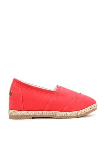 KissXXX 粉紅色 基本素色系列美腿效果5CM內增高帆布休閒鞋 KI603SH09MULTW_1