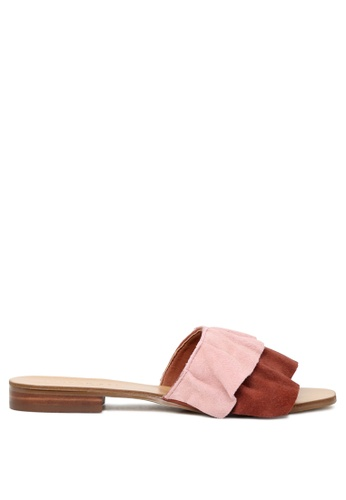 London Rag red Red Wine Leather Slip on Sandal 40A48SH5360A3AGS_1