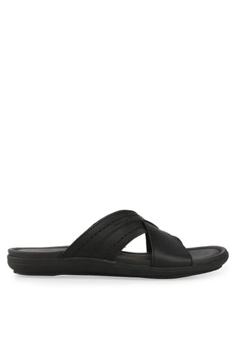 Homyped black Santiago Men Sandals HO842SH64CPRID_1