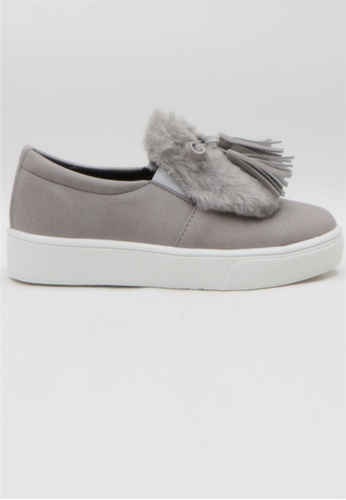 Crystal Korea Fashion grey Korean Winter Detachable Heightening Insoles Versatile Slip-Ons 0773ASHFEE0D96GS_1