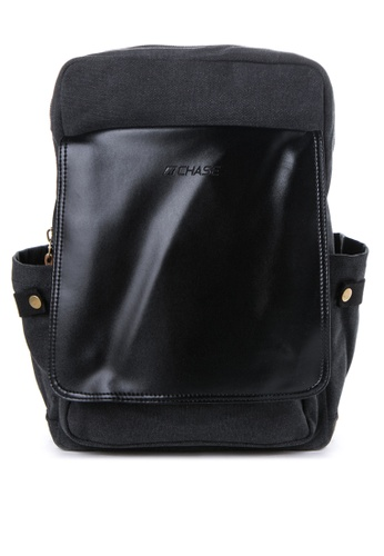 Chase Fashion black Victor  Canvas Backpack CH547AC45ELQPH_1