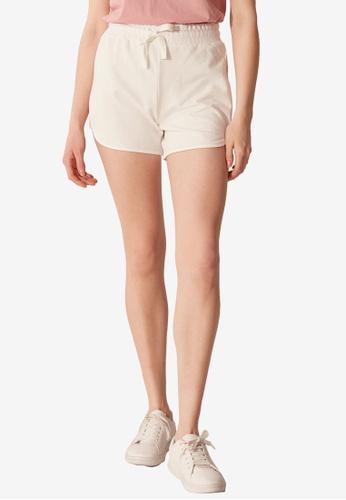 LC Waikiki beige Stripe Printed Elastic Waist Shorts C619EAAA7EB3C1GS_1