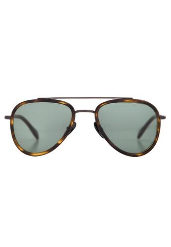 Marshall Eyewear brown and green Mick Olive Turtle MA266AC60OWTSG_1