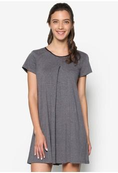 Pleat Detail Swing Dress
