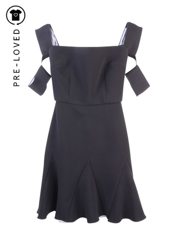 Yeojin Bae black Pre-Loved yeojin bae  Black Off-Shoulders Dress 1EB08AAEC9A115GS_1