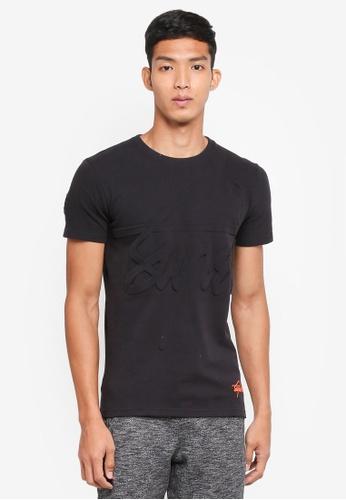 Superdry 黑色 短袖LOGO壓紋T恤 7A950AA57B8E5CGS_1