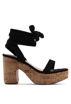 e3233045ad3e Public Desire black Naive Lace Up Block Heels ACAA3SHAD5E725GS 1