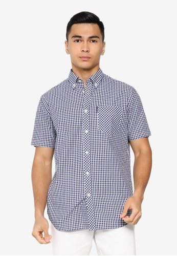 Ben Sherman blue Signature Gingham Short Sleeve Shirt EA911AA42CD7A9GS_1