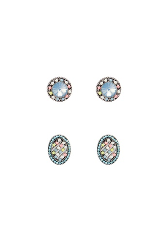 Red's Revenge multi 2-In-1 Candy Coloured Vintage Studs Earrings Set 17999ACF4DA8CFGS_1