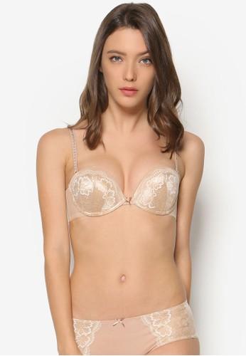 蕾絲集中型全包覆esprit hk store鋼圈胸罩, 服飾, 內著