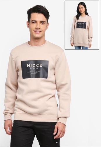 Nicce London brown MMXIII Sweatshirt 989B1AAC79F143GS_1