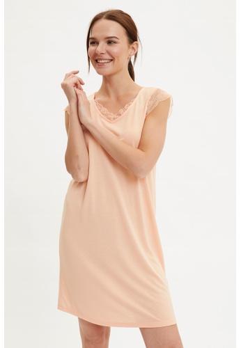 DeFacto pink Woman Homewear Knitted Dress 7A8C2AA668E2E0GS_1