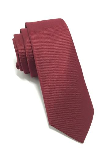 Splice Cufflinks Palpable Series Maroon Red Polyester Fabric Tie SP744AC35QOISG_1