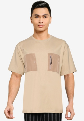 niko and ... brown Pocket T-Shirt 2D2F8AADCEFB14GS_1