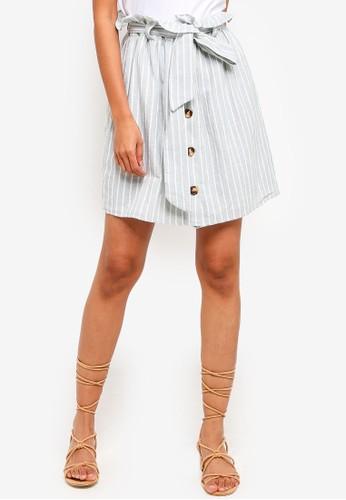 Glamorous green Stripe Paperbag Mini Skirt DEAAEAA5C8969CGS_1