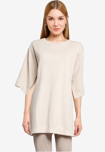 LOWRYS FARM white Split Sleeves Knit Top 90876AACD2F1E4GS_1