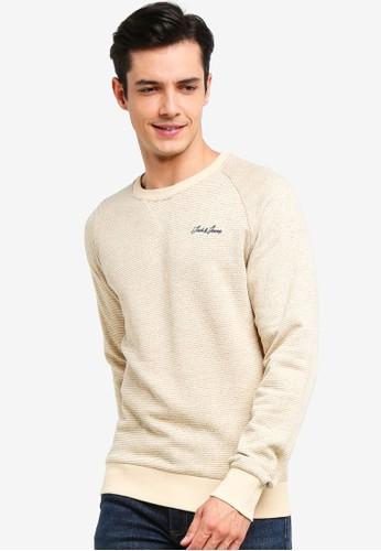Jack & Jones beige Hide Crew Neck Sweater 579EBAAA88E773GS_1