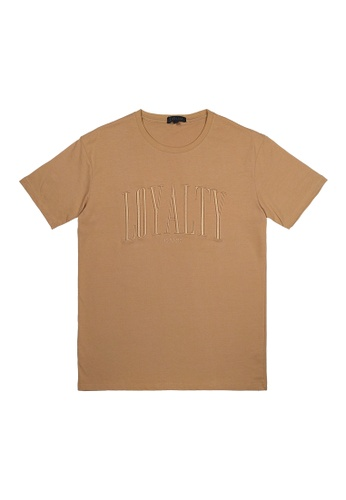 DRUM brown DRUM Loyalty Emboideried Tee- Khakis B9F8DAAAF9DE71GS_1