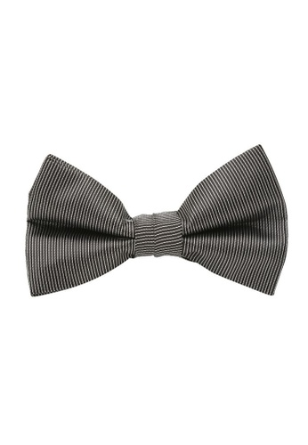 Buckle black Pinstripe Bow Tie with Pocket Hanky 23E95ACC896791GS_1
