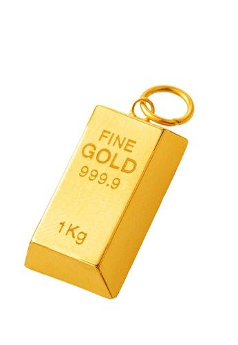 LITZ gold LITZ 916 (22K) Gold Bar Pendant 小金条 GP0228-A(S)-1.07G+/- 708F8AC607B201GS_1