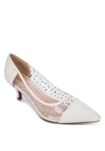 Shoo In white Tia Heels 44D2ASH9609833GS_1