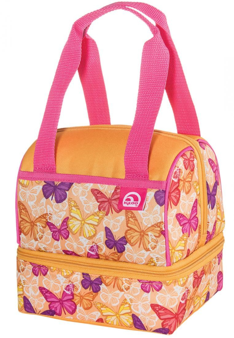 Childrens Butterflies Dual Compartment Lunch Bag