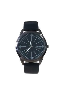 Taqiya Unisex Black Leather Watch