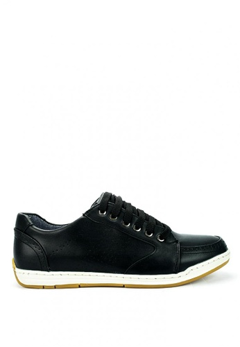 Cardam's Lifestyle black Cardam's Racer Lace-Up Sneakers CA993SH0KUEAPH_1