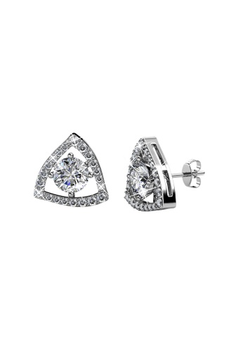 Her Jewellery white and silver Swarovski® Crystals - Tri-Styled Earrings (White)(18K White Gold Plated) Her Jewellery HE581AC0RADUMY_1