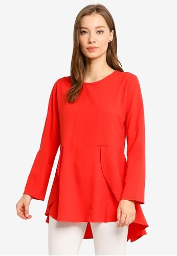 Aqeela Muslimah Wear red Butterfly Top 8E042AA36DD9DBGS_1
