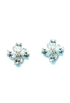 Crystal Earring (flower design)