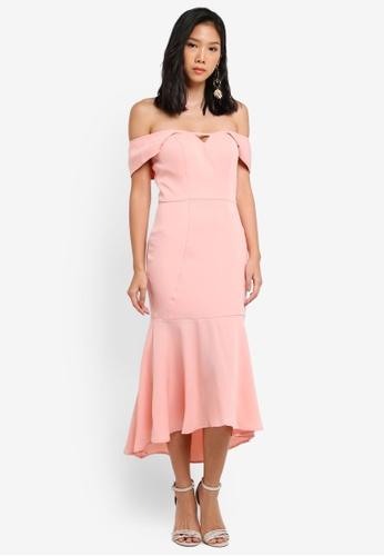 JARLO LONDON pink Blythe Dress JA676AA0ST5CMY_1