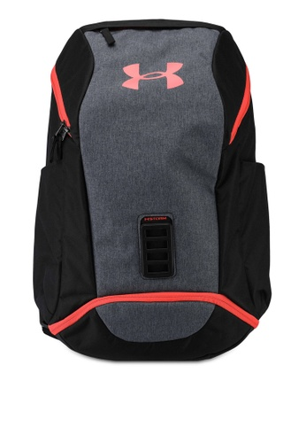 Under Armour black UA Contain Backpack 9F2AEAC1A297DCGS_1