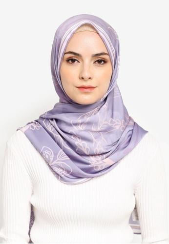 Qamelia Scarves grey Bella Silk Shawl 414EAAA25A382AGS_1