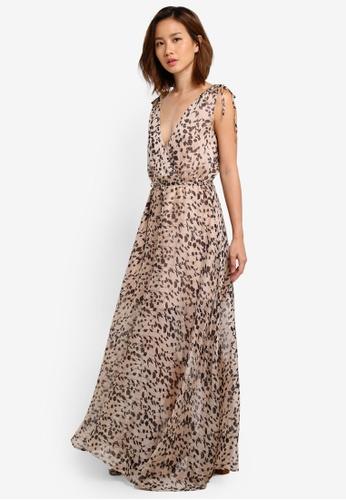 INDIKAH beige Maxi Dress Printed 2E852AA8E0BB2FGS_1