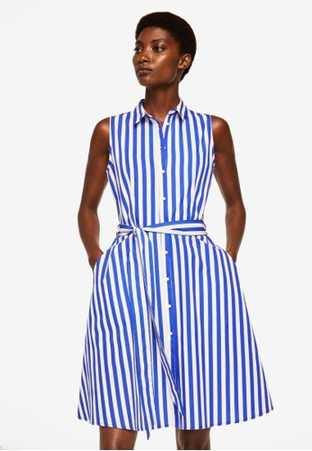 Mango white Cotton Shirt Dress 2A41DAA5510A14GS_1