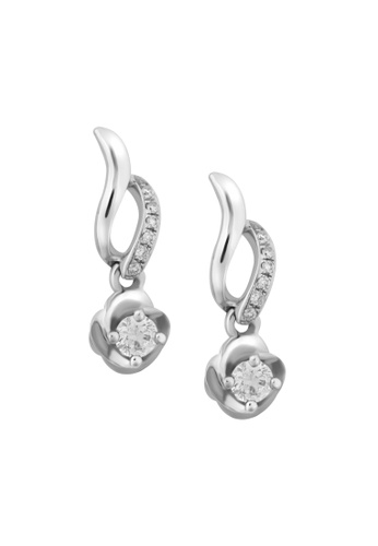 TOMEI white TOMEI Earrings of Luxuriation with Vogue, Diamond White Gold 375 (E1617) B7127ACB3C9204GS_1