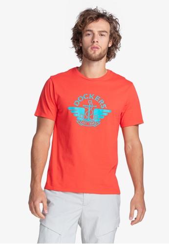 Dockers red Dockers Logo Tee 1986 Logo Tee Tier 3 Poppy Red + Teal Graphic (32931-0254) 86FBAAA3C14F53GS_1