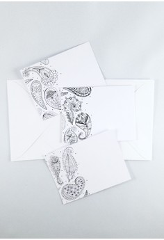 Color In Paisleys Mini Notecards Set
