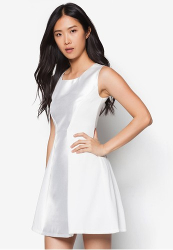 褶飾拼接連身裙, 服飾, esprit台灣洋裝