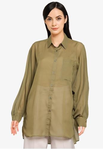 LOWRYS FARM green Long Sleeve Shirt F5569AA11BF1B3GS_1