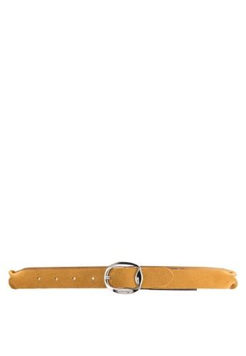 仿麂皮扣環細腰帶, 飾品配mango陶瓷手錶件, 飾品配件