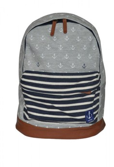 Grey Anchor Backpack